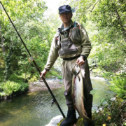 Pesca de salmón en el Esva Asturias