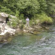 Pesca de salmón a cebo en Asturias