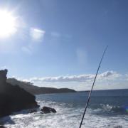 Pesca en Asturias desde pedrero