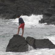 Pesca en Asturias desde playa