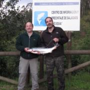 Pesca de Salmón en el Esva, Coto de Piedra Blanca