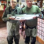 Pesca de Salmón en el Esva, zona libre